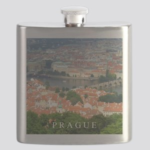 Prague Charles Bridge over Vltava river Flask